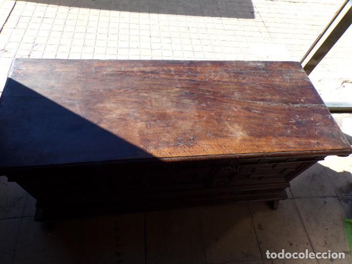 Antigüedades: antiguo arcon de madera caja de novia catalana lerida o tarragona cuarterones en buen estado general - Foto 2 - 287998663