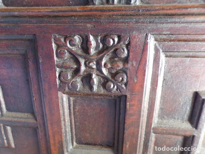 Antigüedades: antiguo arcon de madera caja de novia catalana lerida o tarragona cuarterones en buen estado general - Foto 9 - 287998663