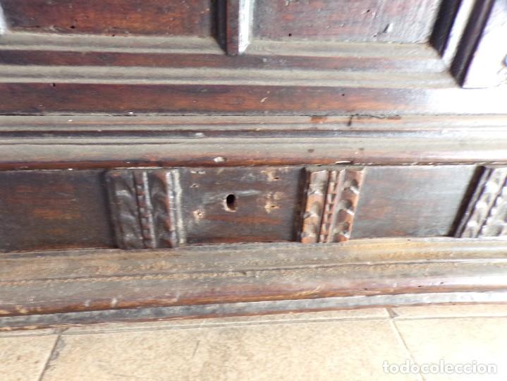 Antigüedades: antiguo arcon de madera caja de novia catalana lerida o tarragona cuarterones en buen estado general - Foto 10 - 287998663