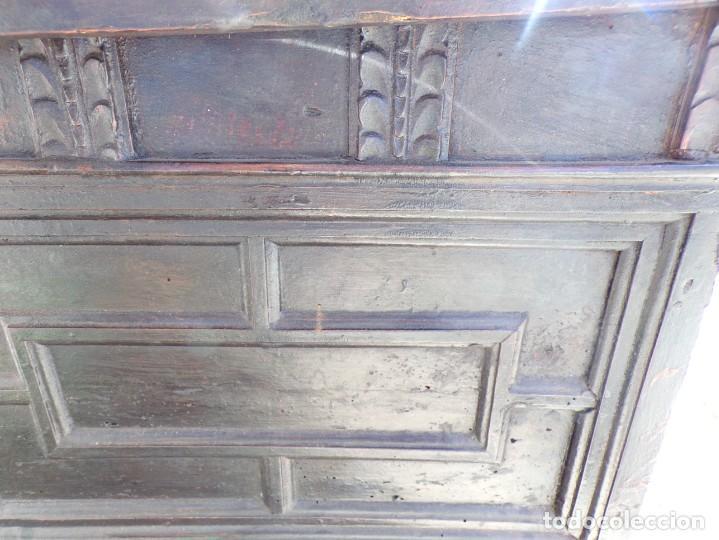 Antigüedades: antiguo arcon de madera caja de novia catalana lerida o tarragona cuarterones en buen estado general - Foto 16 - 287998663