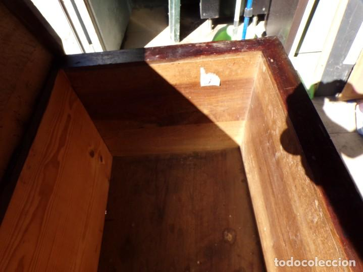 Antigüedades: antiguo arcon de madera caja de novia catalana lerida o tarragona cuarterones en buen estado general - Foto 25 - 287998663