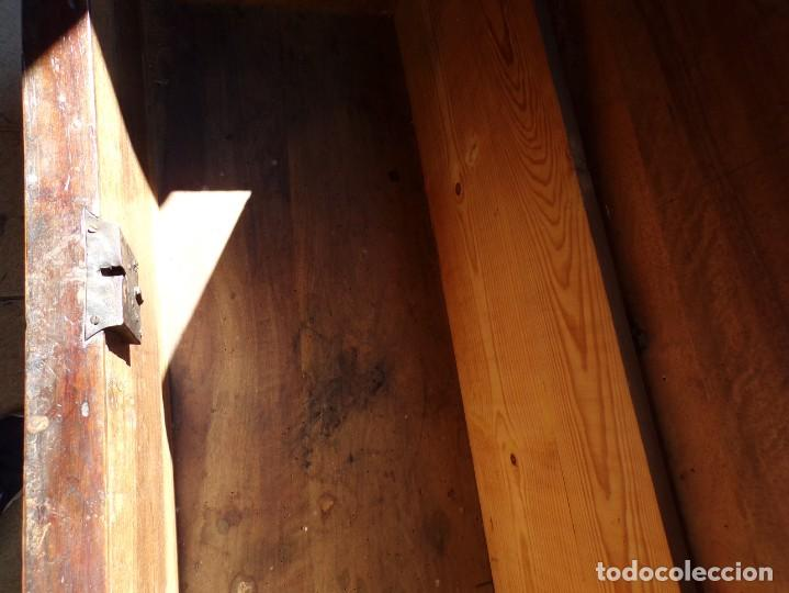 Antigüedades: antiguo arcon de madera caja de novia catalana lerida o tarragona cuarterones en buen estado general - Foto 26 - 287998663