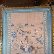 Antigüedades: BORDADO CHINO ANTIGUO. Lote 287999283