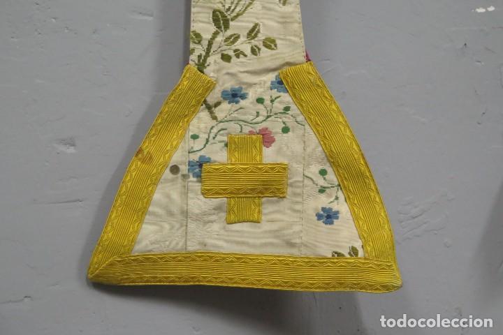 Antigüedades: ESTOLA DE SEDA BORDADA. BLANCA. SIGLO XVIII - Foto 3 - 288004938