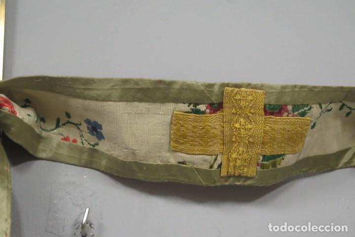 Antigüedades: ESTOLA DE SEDA BORDADA. BLANCA. SIGLO XVIII - Foto 7 - 288004938