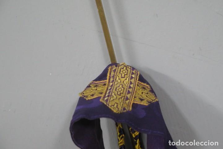 Antigüedades: ESTOLA MORADA. HACIA 1950 - Foto 3 - 288005523