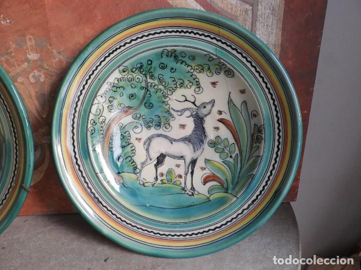 Antigüedades: PLATOS DE CERAMICA PUENTE DEL ARZOBISPO FIRMADOS SANGUINO - Foto 4 - 288018588