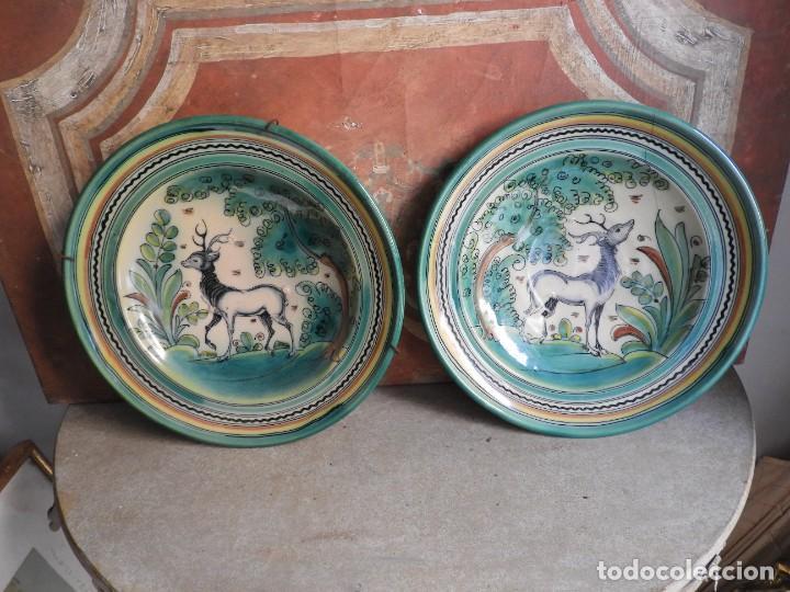 Antigüedades: PLATOS DE CERAMICA PUENTE DEL ARZOBISPO FIRMADOS SANGUINO - Foto 10 - 288018588