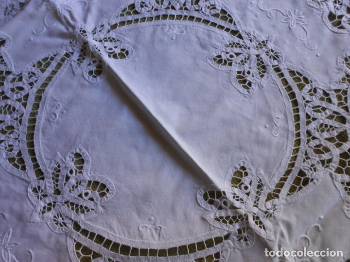 Antigüedades: Manteleria Encajes de Brujas Algodon 100% BLANCO 105 cm /4 Servilletas.Nuevo - Foto 4 - 288036598