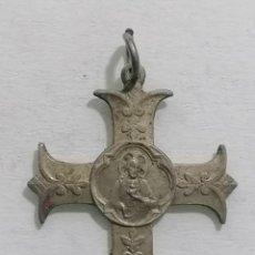 Antigüedades: CRUCIFIJO, APOSTOLADO DEL CORAZON DE JESUS MEDIDAS 23 X 23 MM. Lote 288067238