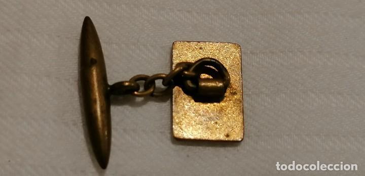 Antigüedades: CURIOSA PAREJA DE GEMELOS ANTIGUOS CON ESMALTE. CARTA AS DE COPAS - Foto 14 - 288075833