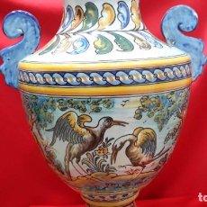 Antigüedades: GRAN JARRON DE TALAVERA. SELLO RUIZ DE LUNA. Lote 288090918