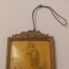 Antigüedades: ANTIGUO CUADRO DE COBRE CON VIRGEN INMACULADA. Lote 288103828