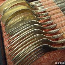 Antigüedades: 811 GRAMOS. CUCHARAS Y TENEDORES DE PLATA DE LEY CONTRASTADA. Lote 288112818