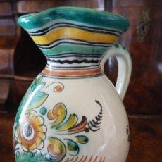 Antigüedades: JARRA CERAMICA. SANGUINO. PUENTE DEL ARZOBISPO. FIRMADA Y NUMERADA.. Lote 288129723