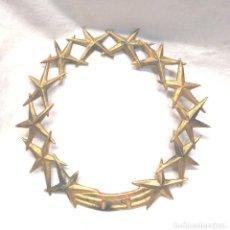 Antigüedades: CORONA PARA IMAGEN BRONCE S XIX. MED. 20 CM. Lote 288134643