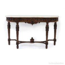 Antigüedades: CONSOLA GRANDE TALLADA - ESTILO LUIS XVI | GREAT CREDENCE IN CARVING - LOUIS XVI STYLE. Lote 288206323