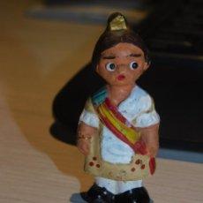 """Antigüedades: CABEZONES ALBOROX ANTIGUAS FIGURAS DE BARRO, *FALLERA"""" AÑOS 60. 4 FOTOS DESCRIPTIVAS. Lote 288212928"""