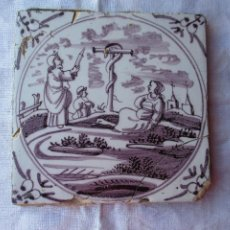 Antigüedades: AZULEJO DELFT SIGLO XVIII. Lote 288214953