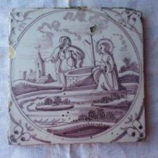 Antigüedades: AZULEJO DELFT SIGLO XVIII. Lote 288215978