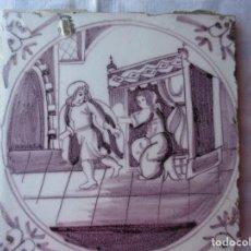Antigüedades: AZULEJO DELFT SIGLO XVIII. Lote 288217843