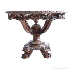 Antigüedades: MESA DE CENTRO EN MADERA TALLADA   COFFEE TABLE IN CARVING WOOD. Lote 288218063