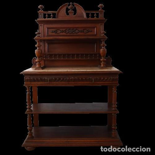 ARMARIO RARO CON ENCIMERA DE MÁRMOL - SIGLO XVIII   18TH CENTURY - RARE CABINET WITH MARBLE TOP (Antigüedades - Muebles Antiguos - Armarios Antiguos)