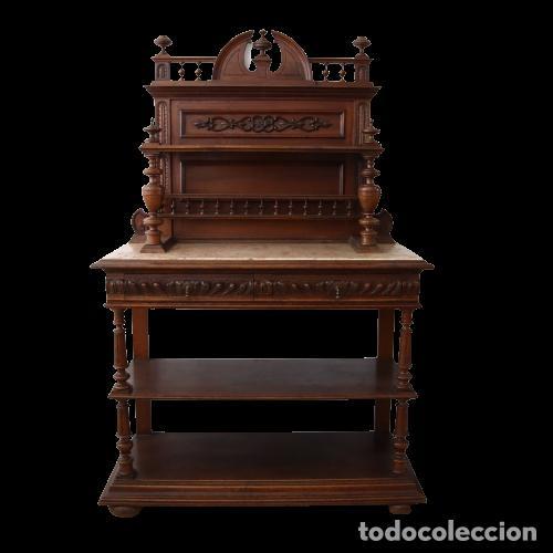 Antigüedades: Armario raro con encimera de mármol - Siglo XVIII   18th century - Rare cabinet with marble top - Foto 2 - 288220183