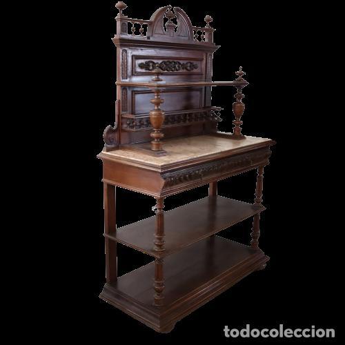 Antigüedades: Armario raro con encimera de mármol - Siglo XVIII   18th century - Rare cabinet with marble top - Foto 3 - 288220183
