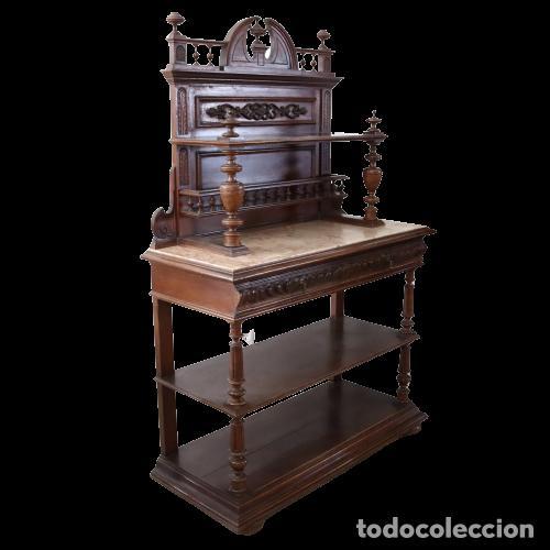 Antigüedades: Armario raro con encimera de mármol - Siglo XVIII   18th century - Rare cabinet with marble top - Foto 4 - 288220183
