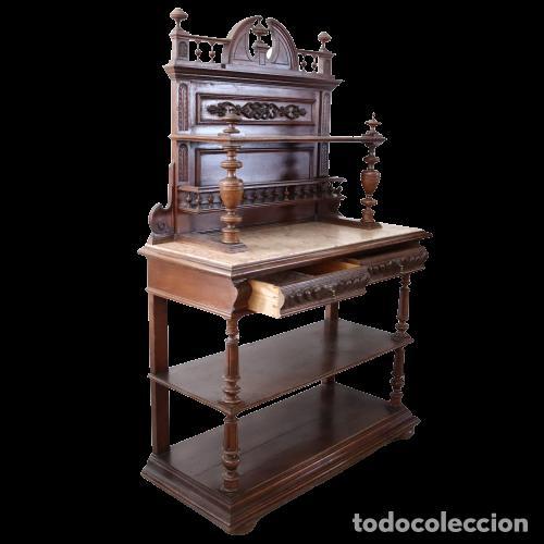 Antigüedades: Armario raro con encimera de mármol - Siglo XVIII   18th century - Rare cabinet with marble top - Foto 5 - 288220183