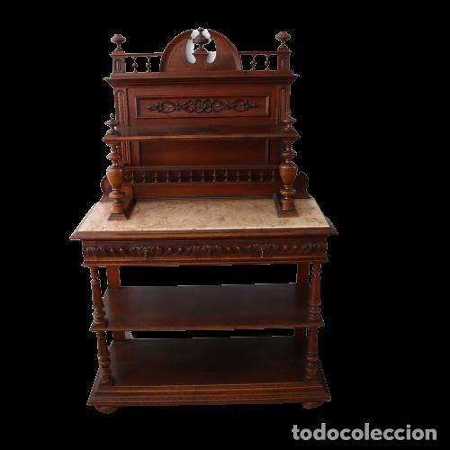 Antigüedades: Armario raro con encimera de mármol - Siglo XVIII   18th century - Rare cabinet with marble top - Foto 6 - 288220183