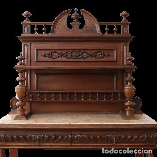 Antigüedades: Armario raro con encimera de mármol - Siglo XVIII   18th century - Rare cabinet with marble top - Foto 8 - 288220183