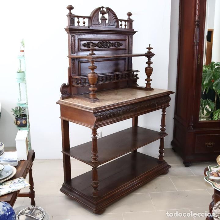 Antigüedades: Armario raro con encimera de mármol - Siglo XVIII   18th century - Rare cabinet with marble top - Foto 10 - 288220183