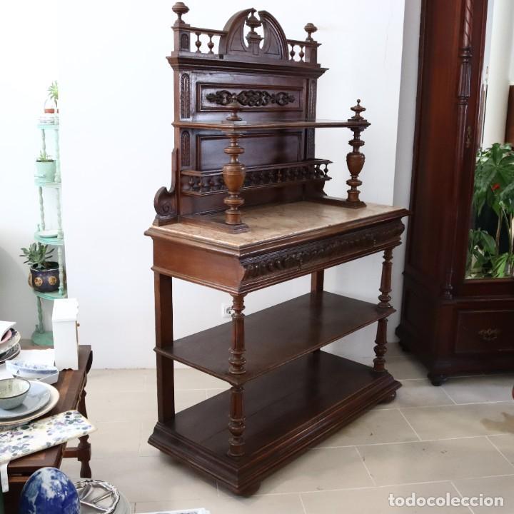 Antigüedades: Armario raro con encimera de mármol - Siglo XVIII   18th century - Rare cabinet with marble top - Foto 11 - 288220183