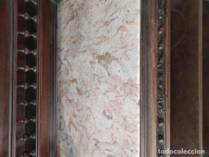 Antigüedades: Armario raro con encimera de mármol - Siglo XVIII   18th century - Rare cabinet with marble top - Foto 17 - 288220183