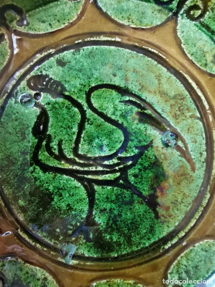 Antigüedades: Precioso cenicero de barro vidriado. De Tito, Úbeda. Años 70 - Foto 2 - 288314493