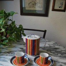 Antigüedades: JUEGO DE CAFÉ PORCELANA BIDASOA - NOVUM - DUR-MOLL - TÉ - CAFETERA - TETERA - CUATRO TAZAS. Lote 288361553