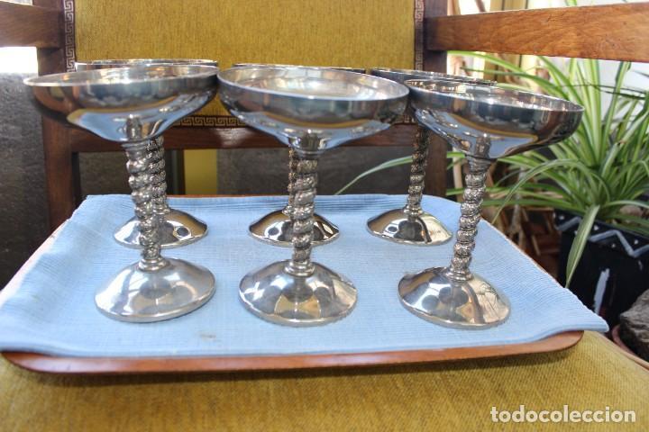 COPAS DE CHAMPÁN EN METAL (Antigüedades - Hogar y Decoración - Copas Antiguas)