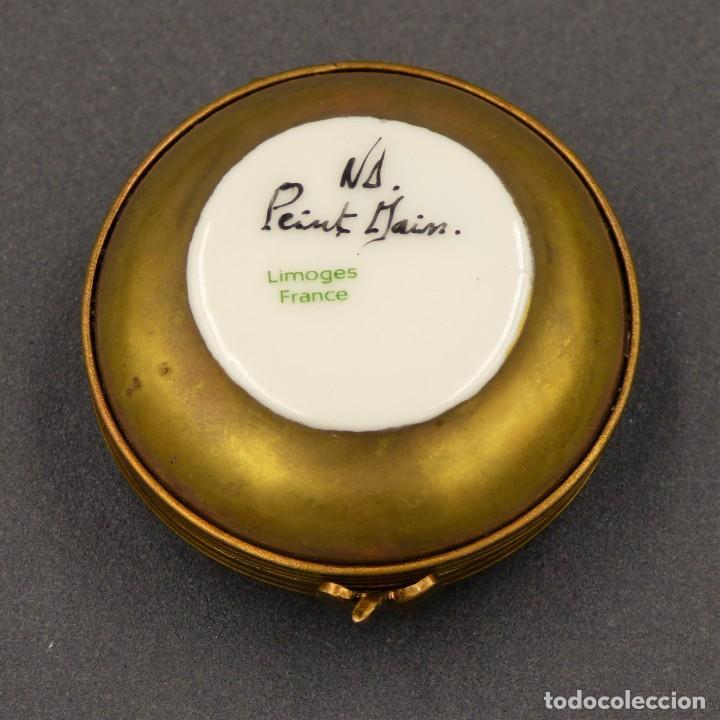 Antigüedades: Art Nouveau. Pastillero pequeño de porcelana de Limoges Francia. 1900 - 1920 - Foto 4 - 288396593