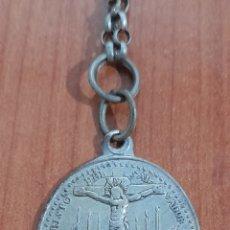 Antigüedades: MEDALLA CON CADENA DE PLATA S. XVIII/ XIX ( LAROSA ). VER FOTOS Y DESCRIPCIÓN.. Lote 288399188