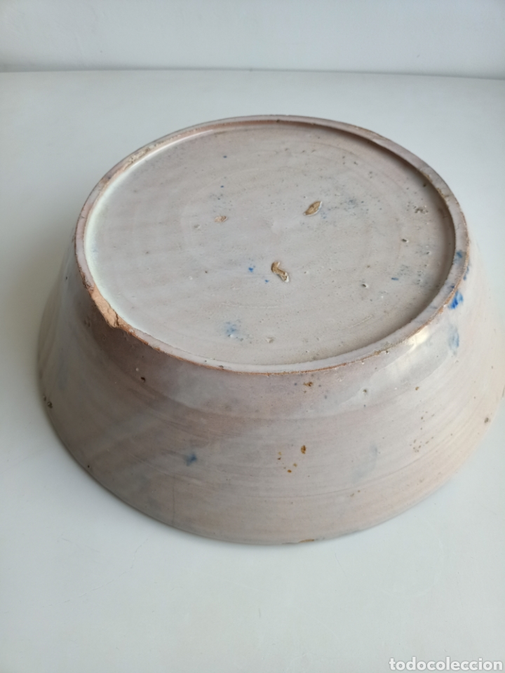 Antigüedades: Espectacular lebrillo granadino. 35 cm. Siglo XIX. - Foto 3 - 288429688