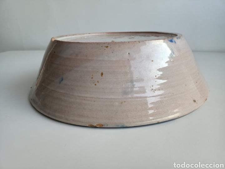 Antigüedades: Espectacular lebrillo granadino. 35 cm. Siglo XIX. - Foto 4 - 288429688