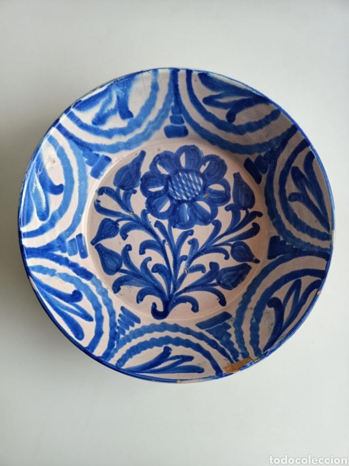 ESPECTACULAR LEBRILLO GRANADINO. 35 CM. SIGLO XIX. (Antigüedades - Porcelanas y Cerámicas - Fajalauza)