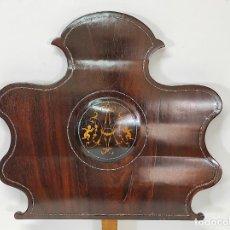 Antigüedades: ANTIGUO REMATE DE CAMA ISABELINO - COPETE - MADERA DE JACARANDÁ - MARQUETERÍA - S. XIX. Lote 288430408
