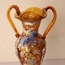 Antigüedades: JARRÓN EN VIDRIO MALLORQUÍN. Lote 288431723