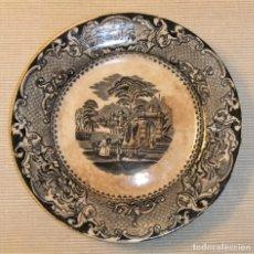 Antigüedades: ANTIGUO PLATO SANDEMAN MACDOUGALL SERIE VISTAS CHINA OPAQUE. Lote 288441968
