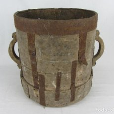 Antigüedades: MEDIDA PARA GRANO EN MADERA, SIGLO XIX. Lote 288455273