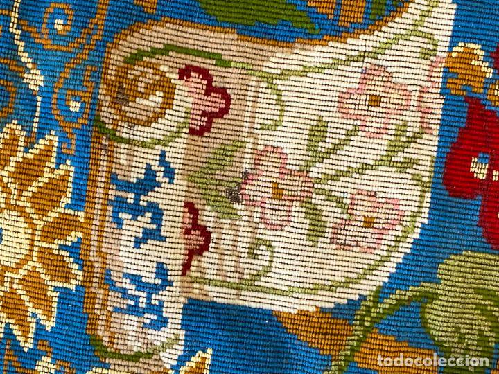 Antigüedades: TAPIZ ANTIGUO MOTIVO FLORAL , AUBUSSON TAPESTRY - Foto 4 - 288480923
