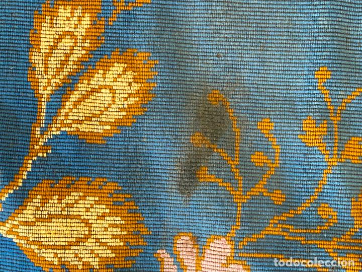 Antigüedades: TAPIZ ANTIGUO MOTIVO FLORAL , AUBUSSON TAPESTRY - Foto 9 - 288480923
